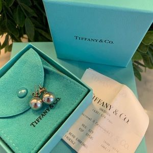 Authentic Tiffany Ball Earrings 10mm
